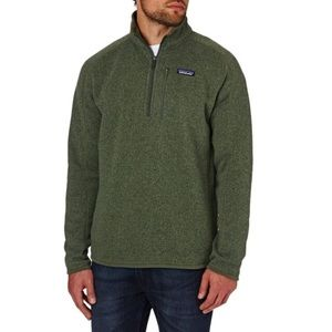 Men's Patagonia better sweater  industrial green